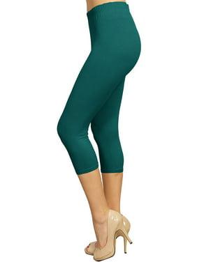 c8a942edd2c Product Image ViV Collection Solid Brushed Capri Leggings Teal Green Regular