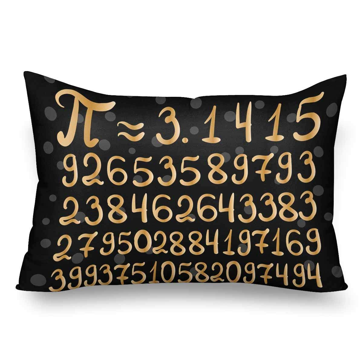 GCKG Inscription Number Pi Print Pattern Pillow Cases Pillowcase 20x30 inches - image 4 of 4