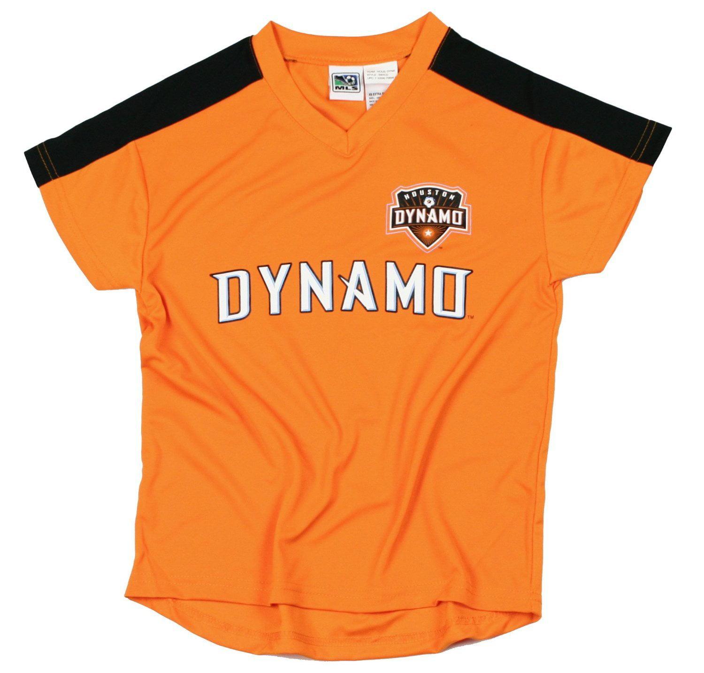Houston Dynamo Mls Soccer Football Boys Youth Team Jersey Shirt Top Orange Walmart Com Walmart Com