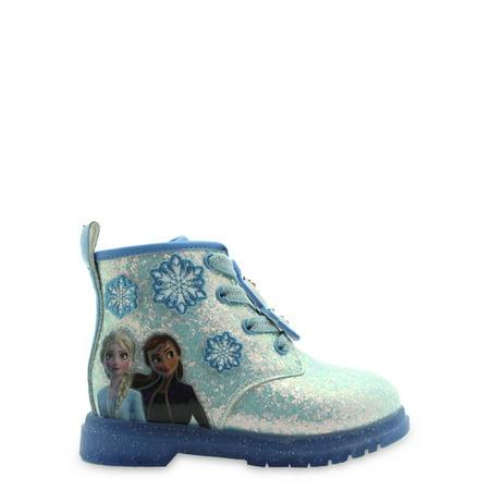 Disney Frozen 2 Anna & Elsa Snowflake Lace-Up Moto Boot (Toddler Girls)