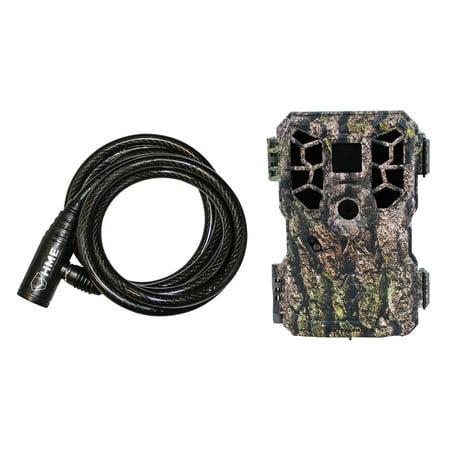 Stealth Cam STC-PX18FXCMO 14.0-Megapixel NO GLO FX Shield Camo Trail Cam & HME-CBLK Python Cable Lock ()