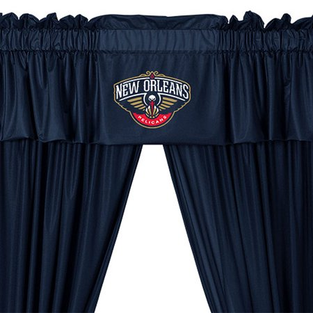 NBA Pelicans Curtain Set Basketball Valance and Drapes