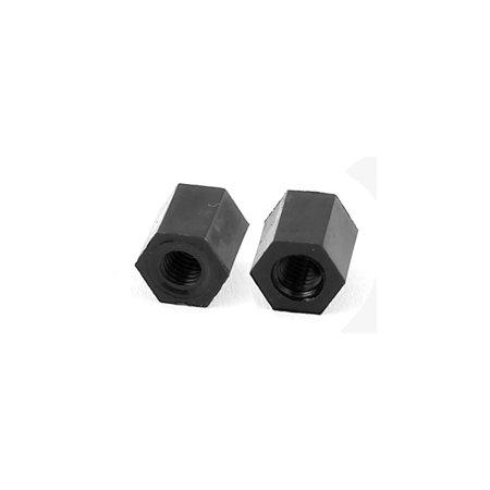 M3x6mm Female Thread Nylon Hex Standoff Spacer PCB Pillar Screw Nut Black 50pcs - image 1 of 2