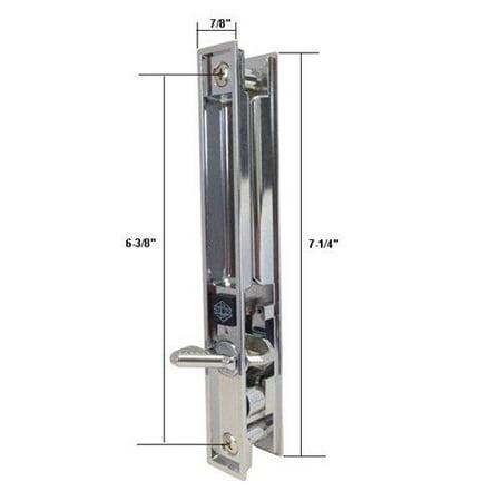 Chrome Flush Mount Patio Door Handle For Mil Door 6 38 In Screw