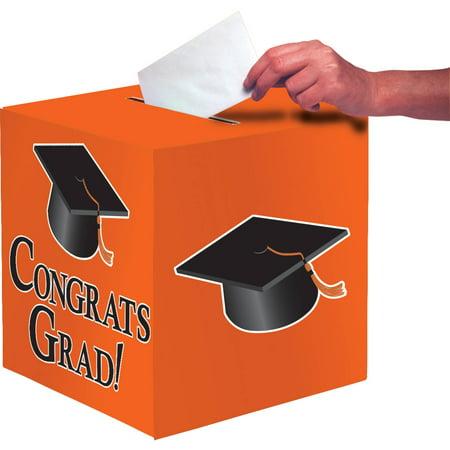 Orange Congrats Grad Card Box