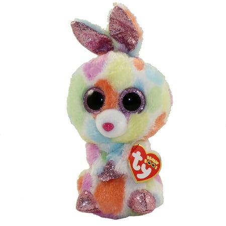 TY Beanie Boos - BLOOMY the Rainbow Bunny (Glitter Eyes)(Regular Size - 6 inch)
