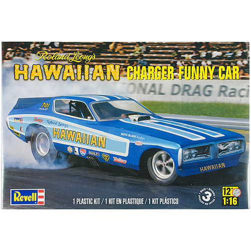 Plastic Model Kit, Hawaiian Charger Funny Car, 1/16