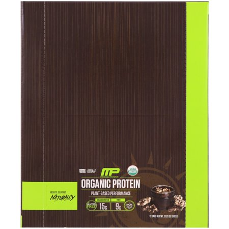 Organic Toffee - MusclePharm Natural, Organic Protein Bar, Chocolate Toffee, 12 Bars, 21.20 oz(pack of 1)