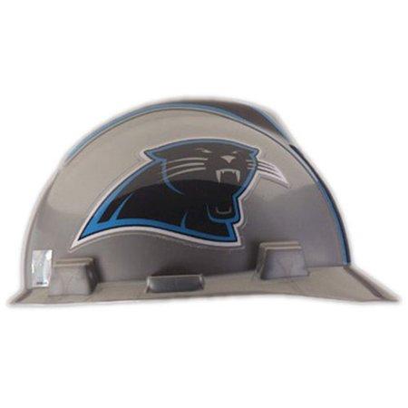 Safety Works Nfl Hard Hat  Carolina Panthers  Adjustable Nape Strap Suspension Holds Hat Securely In Place By Msa Safety Works