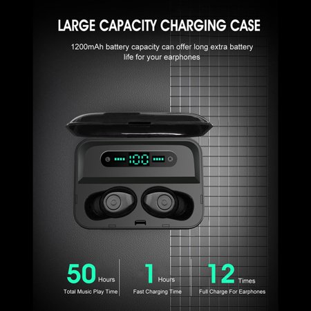 True Wireless Earbuds Bluetooth Earbuds Wireless Earbuds - Bluetooth 5.0 Mini in Ear TWS Earbuds with Charging Case,Noise Cancelling Earbuds,Earbuds with Microphone for Hands-Free Calls - image 13 de 13