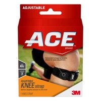 ACE Brand Compression Knee Strap, Adjustable, One Size Fits Most