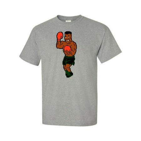 Shedd Shirts Grey Punchout Mike Tyson's Punchout