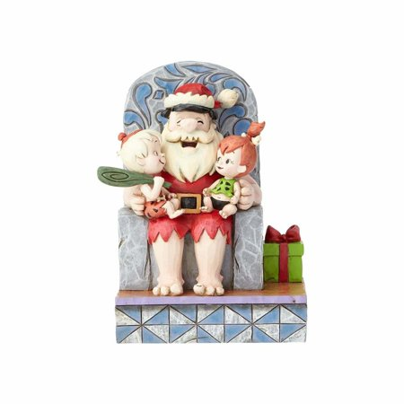 Pebbles And Bam Bam (Flintstones Santa Fred with Pebbles & Bam Jim Shore Resin Figurine New with)