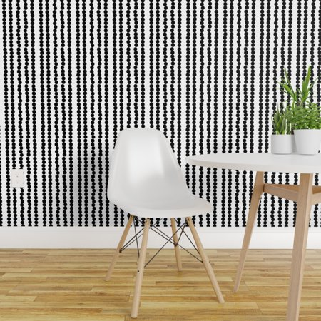 Removable Water Activated Wallpaper Mod Contemporary Polka Dot Zebra S