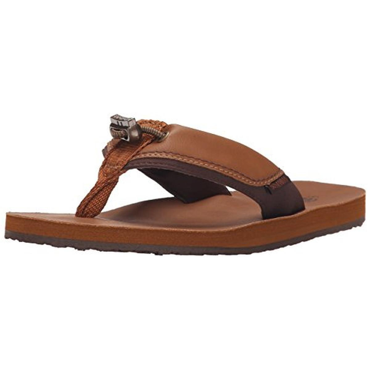 Cudas Womens Warwick Faux Leather Drawstring Flip-Flops by Cudas