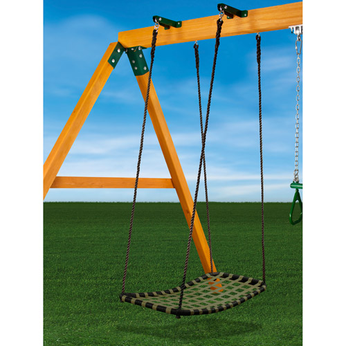 Gorilla Playsets Chill 'N Swing with Swing Brackets, Black & Green