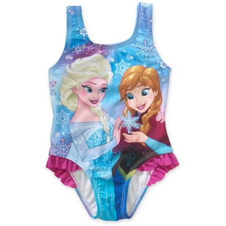 Ruffle One Piece Swimsuit (Frozen One-Piece Ruffle Swimsuit (Baby Girls & Toddler Girls))