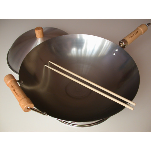 Taylor & Ng 4 Piece 14'' Round Bottom Wok Set