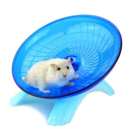 Cute Mute Hamster Toy Stable Flying Saucer Jogging Exercise Wheel Roller
