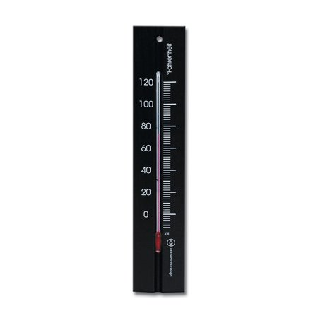 Wall Thermometer 7.8 inch Beechwood Black Finish