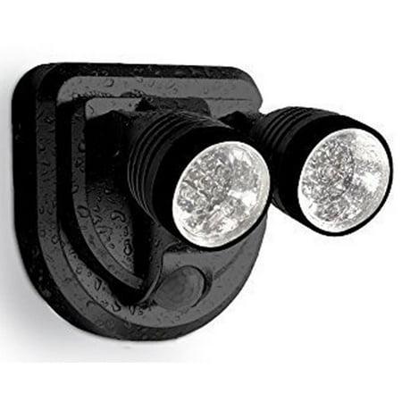 Dual Head Solar Motion Sensor Spotlight Security Lights for Porches, Sheds, Patios ()