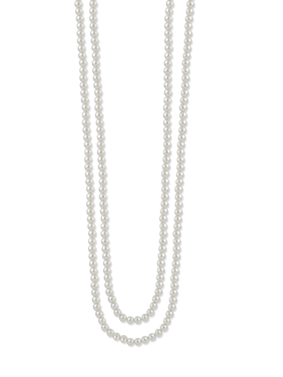 TAZZA WOMEN'S 8MM WHITE FAUX PEARL LONG NECKLACE #N114110673