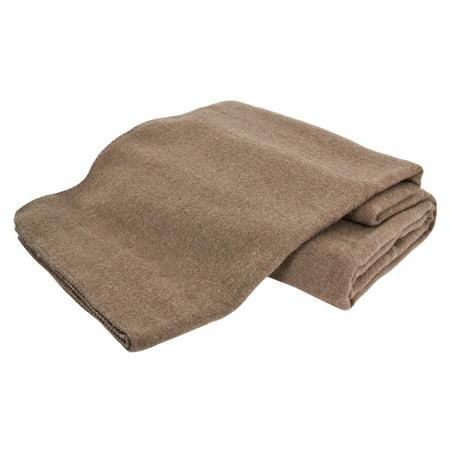 70s Wool (Creswick Australian Mills Hobart Machine Washable Australian Wool Blend Blanket, Full/Queen, Hazel)