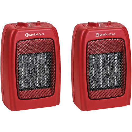 Comfort Zone Ceramic Heater 2-Pack Value Bundle