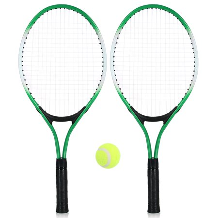 2Pcs Kids Tennis Racket String Tennis Racquets with 1 Tennis Ball and Cover Bag ()