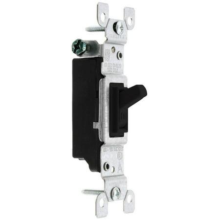 Leviton 1451-2E Light Switch, Toggle Switch, Single-Pole - Black (Black Single Light Switch Cover)