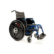 "Rowheels Revolution 1.0 Manual Therapeutic Wheelchair, 20"" Seat, Blue"