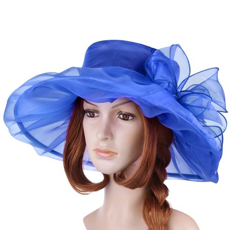 Fitbest - Womens Sun Hat-Fitbest Women Sun Hat Organza Kentucky Derby  Fascinator Lady Cocktail Tea Party Church Wedding Bridal Flower Hat -  Walmart.com e221c074d480