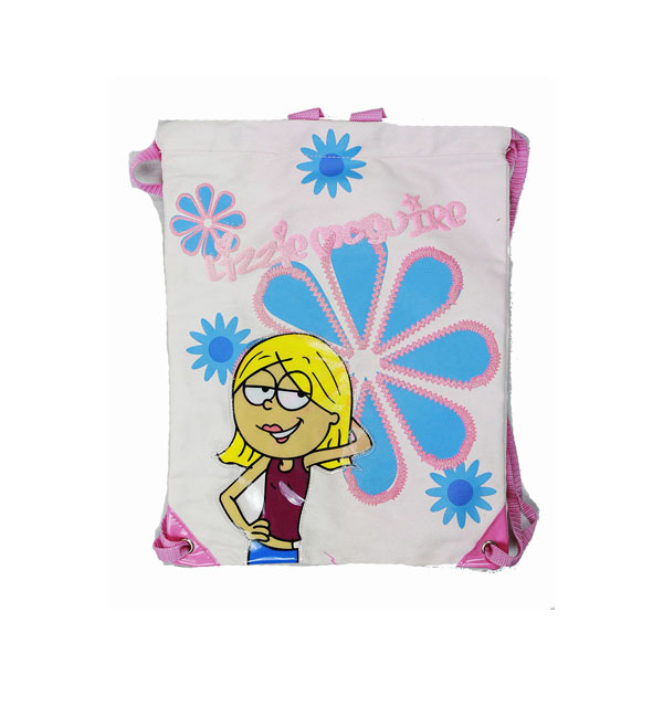 String Backpack - Lizzie McGuire - Blue Flower - Cinch Bag New Girls Gift 20567