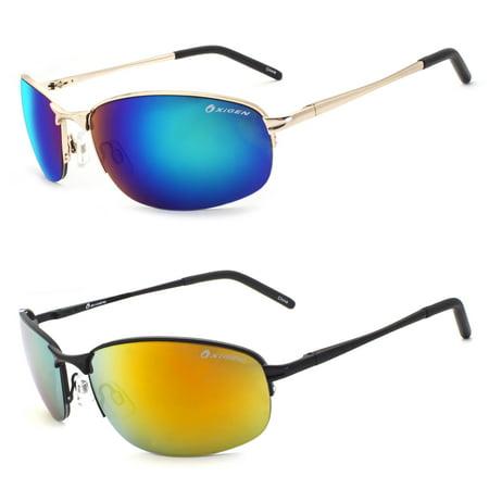 2a084432166d NEW Classic Retro Mens Fashion Metal Aviator s Vintage Designer Sunglasses  Black