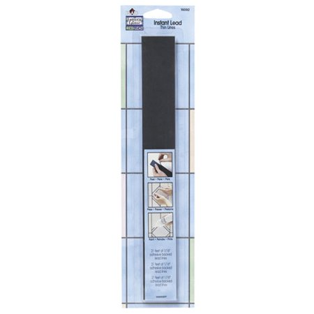 Gallery Glass Redi Lead - Gallery Glass Redi-Lead Simulated Leading Strips. Thin Black 21 feet