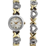 Women's Watch and Bracelet Gift Set, Two-Tone