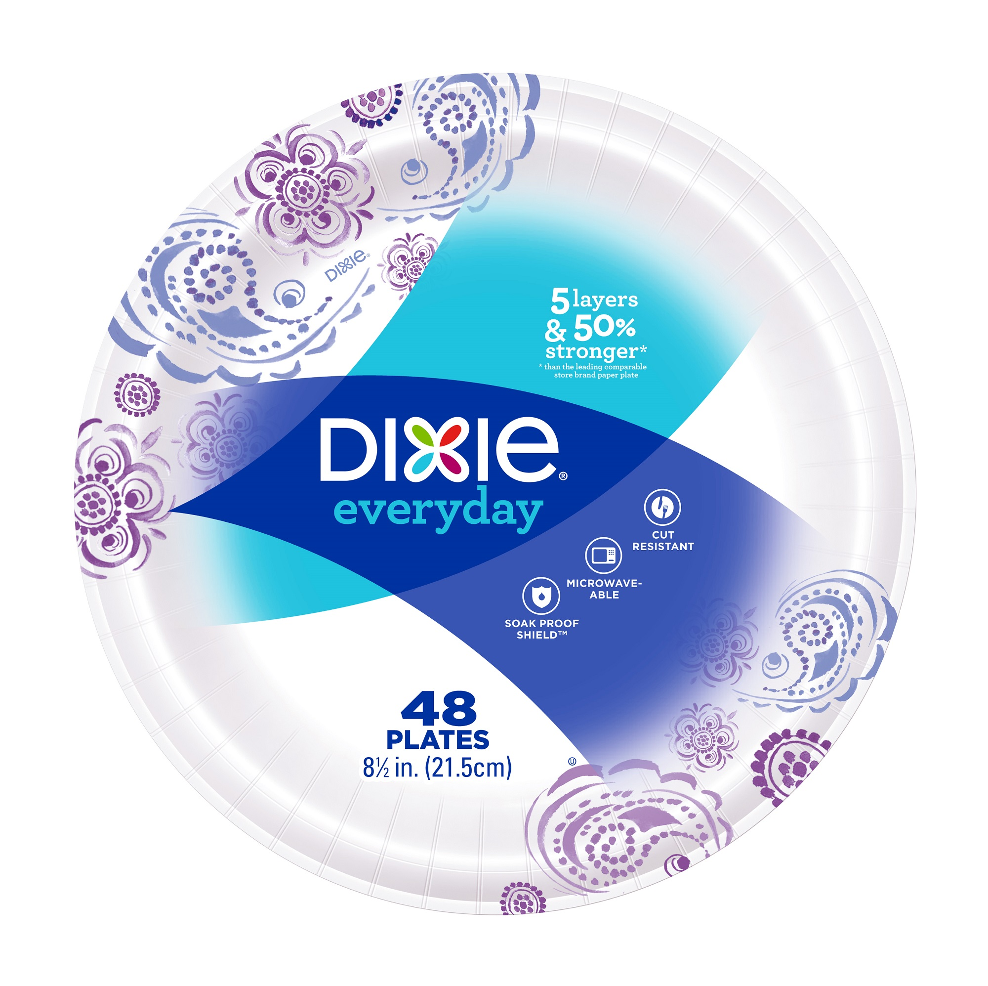 "Dixie Everyday Paper Plates, 8.5"", 48 Count"