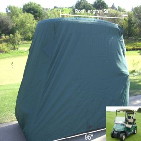 Formosa Covers Deluxe 2 Passenger Golf Cart Cover in Green roof up to 58