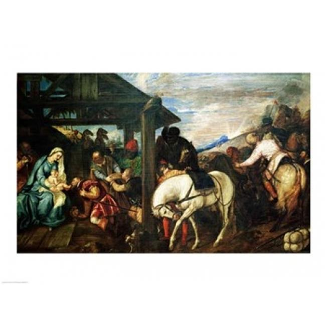 Posterazzi BALXIR201171LARGE The Adoration of The Magi Poster Print by Titian - 36 x 24 in. - Large - image 1 de 1