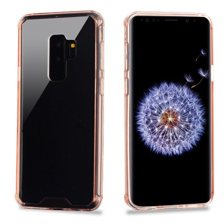 new style 56279 82fbd For Samsung Galaxy S9 Plus Clear/Rose Gold Sturdy Gummy Phone Case Cover