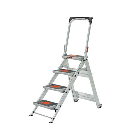Little Giant Safety Step, Model 4 step, 300 lbs capacity rated, aluminum (Little Giant Alta One Ladder With Work Platform)