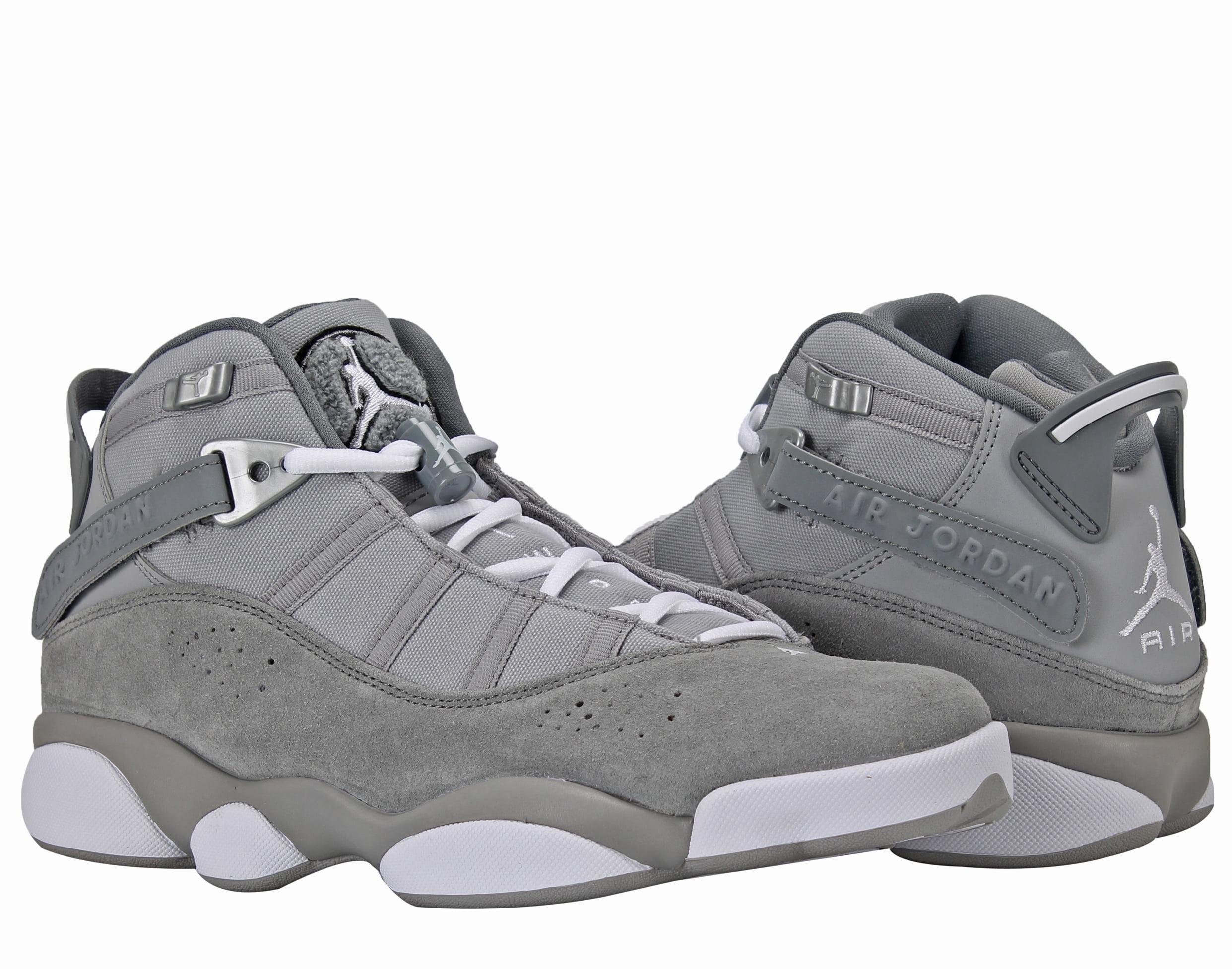 736d67fc433 ... get jordan nike air jordan 6 rings bg grey white big kids basketball  shoes 323419 014