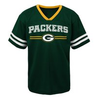 Youth Green Green Bay Packers Mesh V-Neck T-Shirt