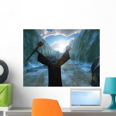 Moses Parting Red Sea Wall Mural By Wallmonkeys Peel And Stick