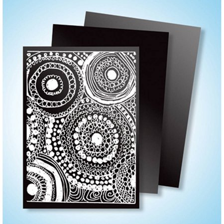 Melissa & Doug Scratch Art Scratch and Sparkle Artist Trading Cards - 52-Pack, 4 Colors