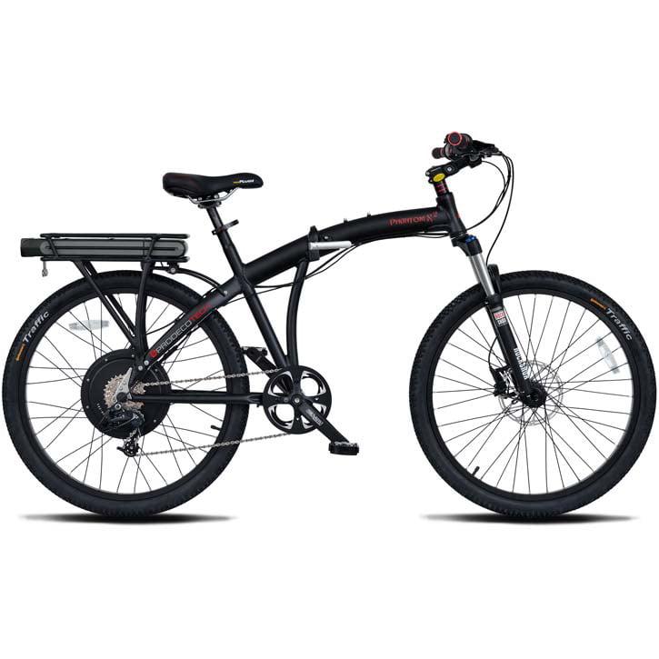 "ProdecoTech Phantom X2 V5 26"" Folding Electric Bicycle - Black/Black"