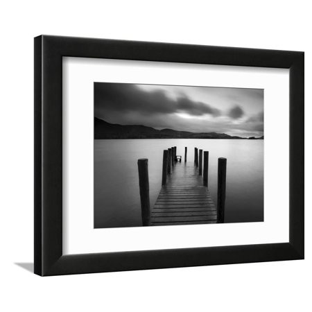 Barrow Bay, Derwent Water, Lake District, Cumbria, England Jetty Dock Coastal Landscape Black And White Photography Framed Print Wall Art By Gavin (Best Photography Locations In The Lake District)