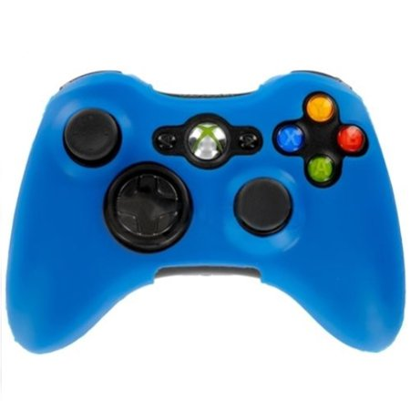 HDE Xbox 360 Silicone Wireless Controller Skin Protective Rubber Case Cover for Microsoft Xbox 360 Game Pad (Blue)