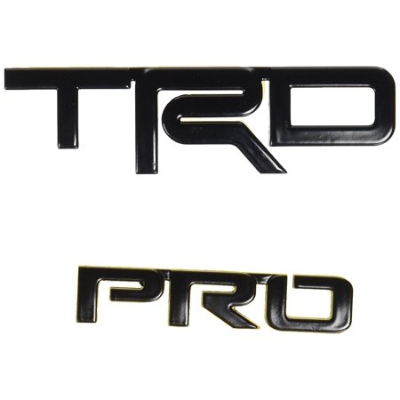 - OEM TOYOTA TRD PRO BLACK EMBLEMS FITS 4RUNNER, TACOMA PT413-00150