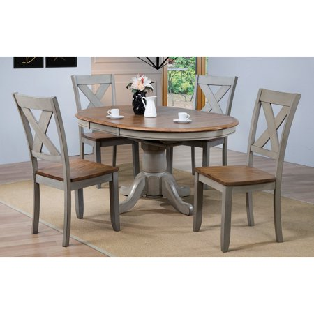 Winners Only Pedestal Dining Table with 15 in. Butterfly Leaf Contemporary Pedestal Dining Table
